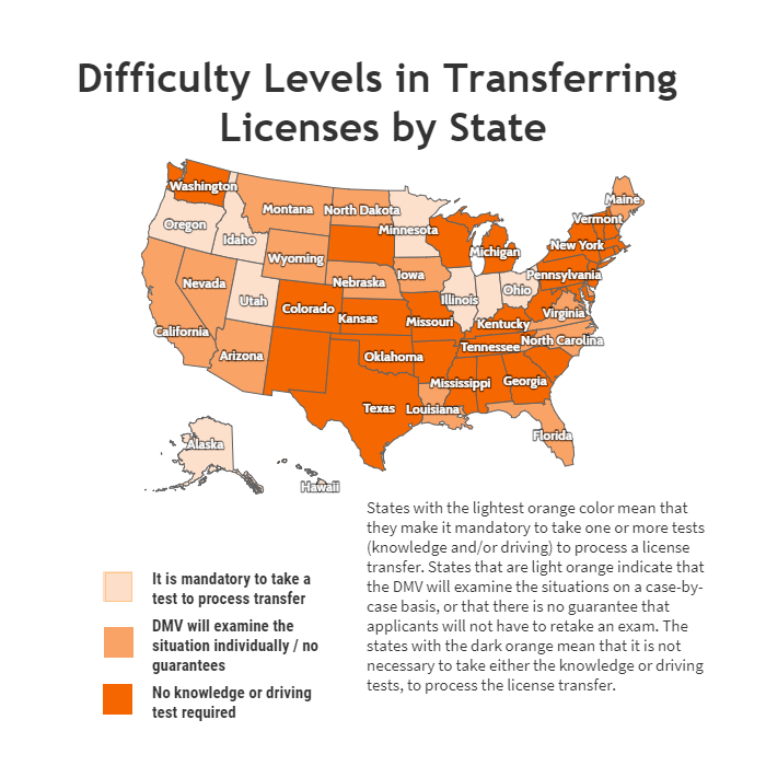 transferring drivers licensestate | infinity insurance