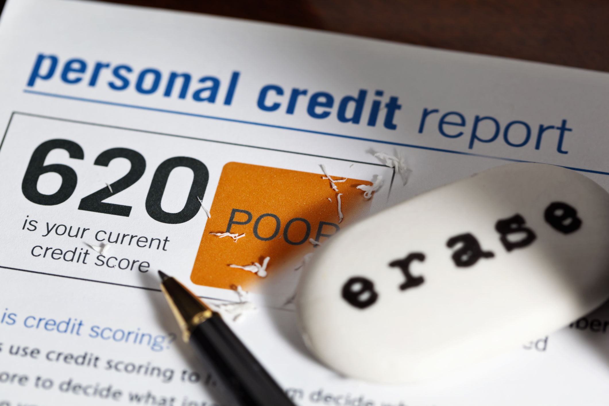 erasing old credit score