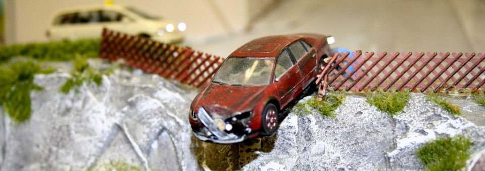 Toy Cars Staged in an Accident